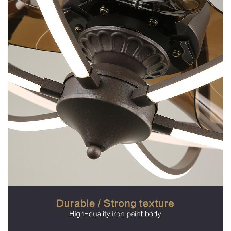 MORFI Ceiling Fan Chandelier with LED Light, 6 Speeds & Remote Control