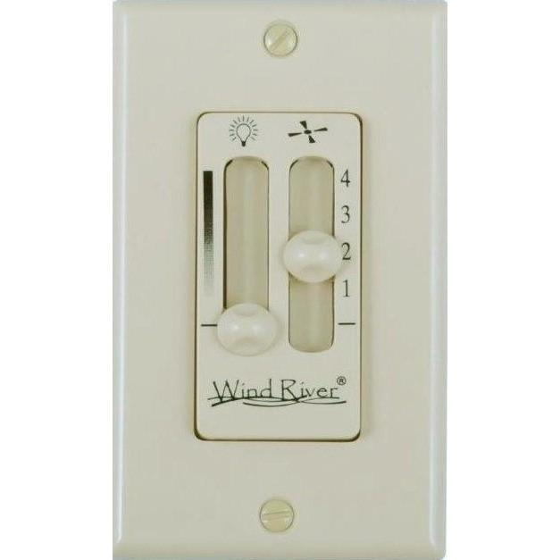 Wind River Dual Fan Light Wall Control - WSC4402AL