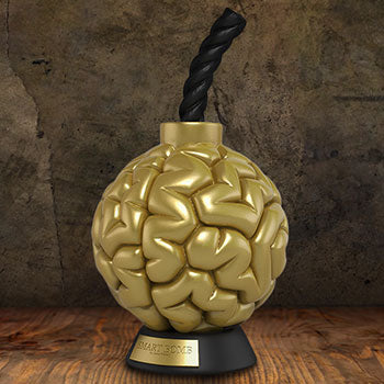 Smart Bomb (Gold) Limited Edition Sculpture (Signed)