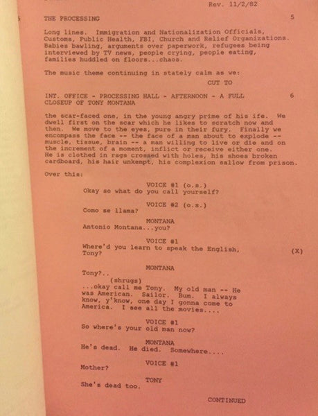 Scarface Script Reproduction