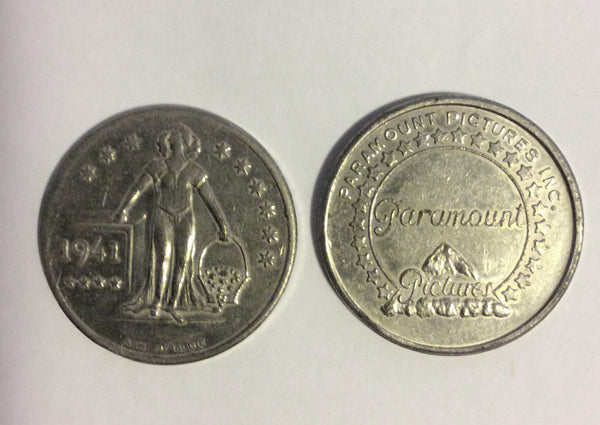 1941 Paramount Pictures Commemorative Coin