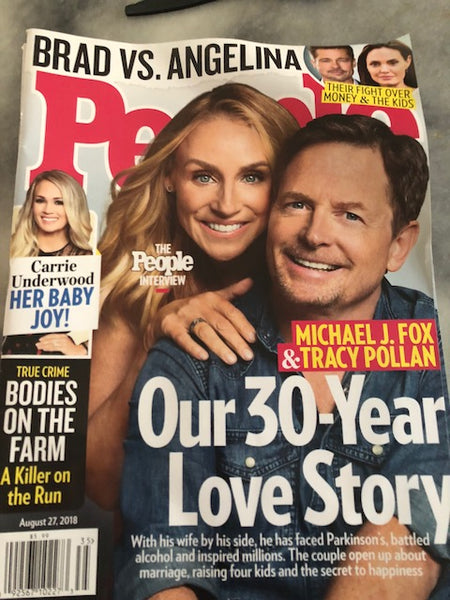 People Magazine - Our 30-Year Love Story:  Michael J. Fox & Tracy Pollan ... August 27, 2018