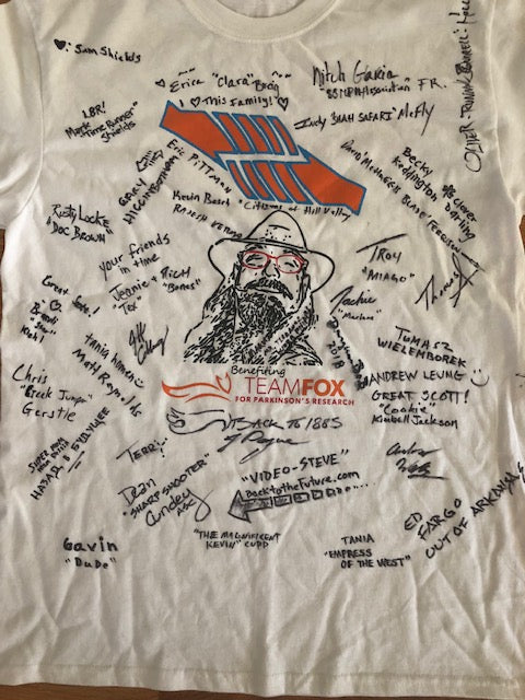 #GOTEAMFOX!/Dangerous BoB Back to 1885 Signed Cast and Crew Shirt