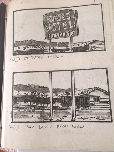 Psycho 3 Storyboard, Call Sheet and Map to a Location