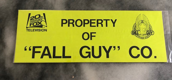 "Official, Unused, Pristine ""Fall Guy"" Parking Pass"