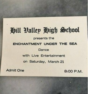 Back to the Future Enchantment Under the Sea Dance Ticket