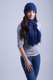 Navy Blue Scarf & Beanie Gift Set