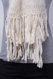 Natural Fluffy Scarf / Slubby Tassels