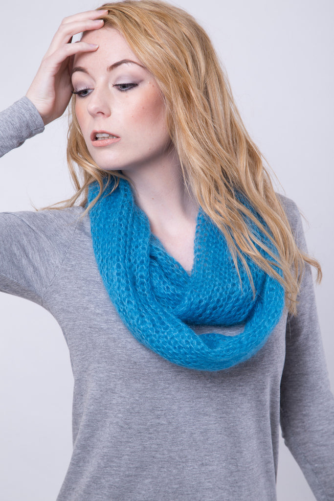 Bright Turquoise Infinity Scarf