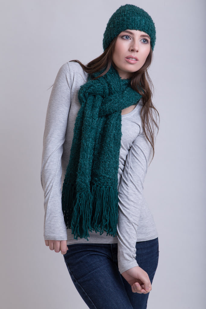 Bottle Green Scarf & Beanie Gift Set