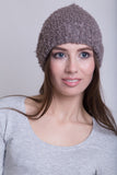Taupe Boucle Beanie