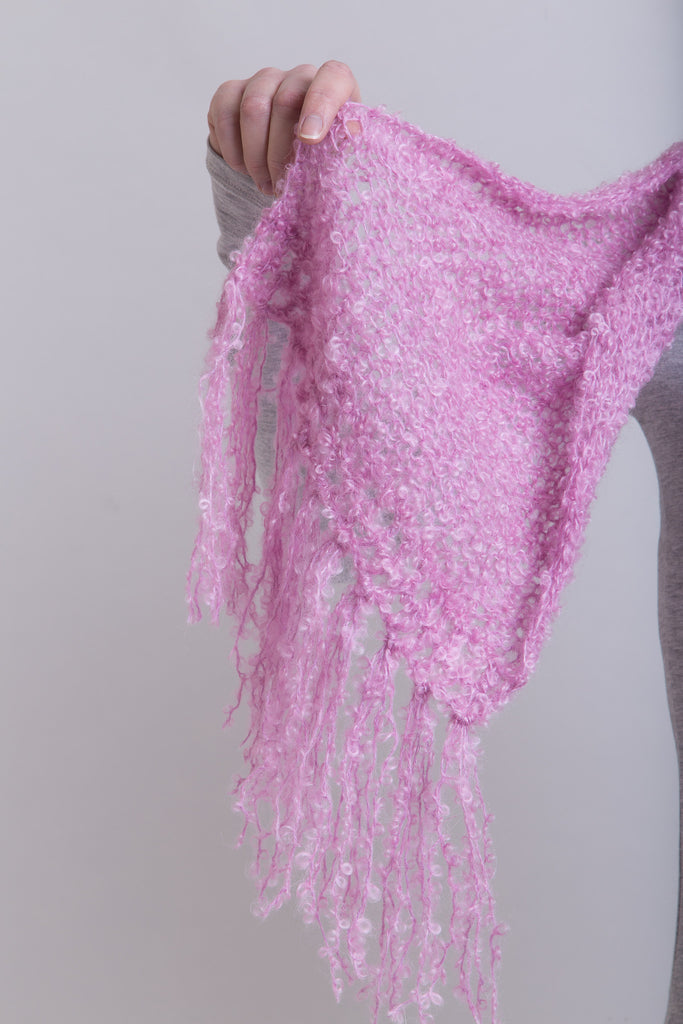 Hyacinth Boucle Scarf / Boucle Tassels