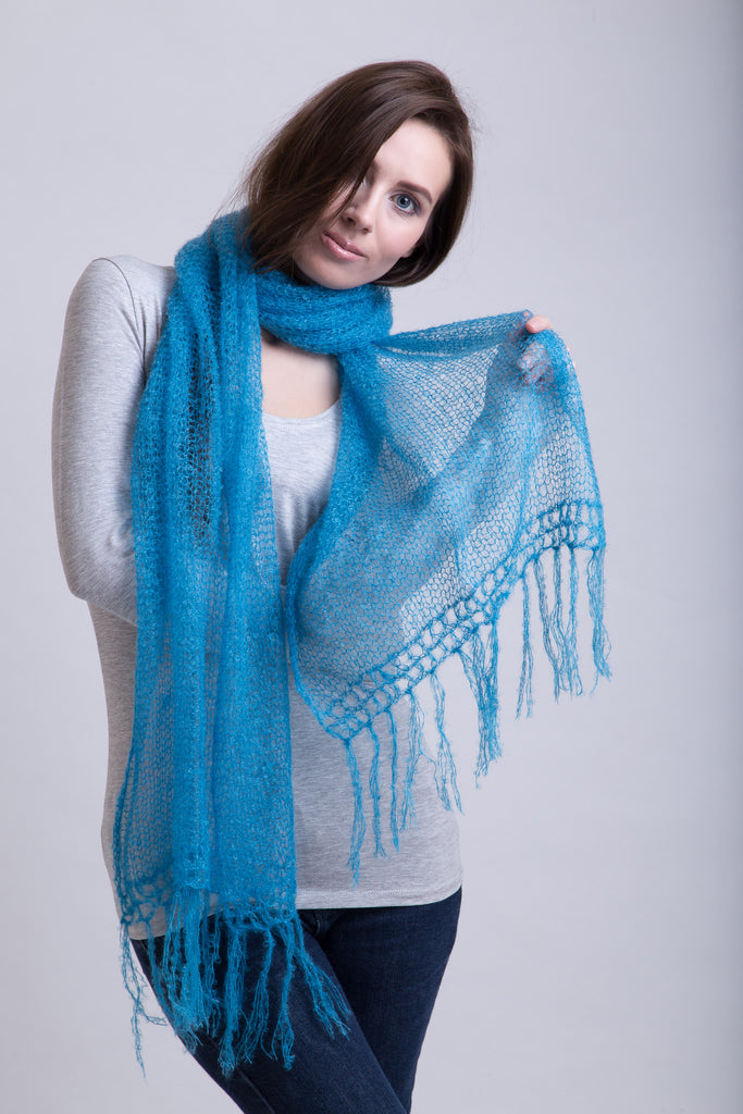 Bright Turquoise Extra Fine Scarf