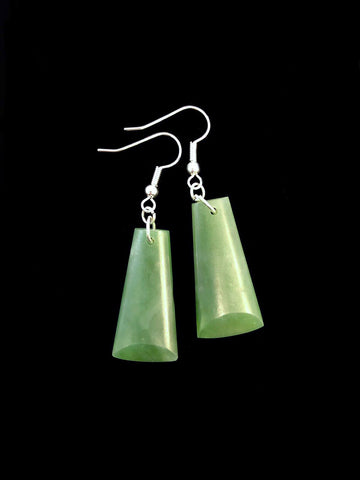 Greenstone toki earrings