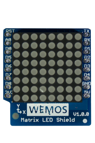 LED Matrix Shield for WeMos D1 Mini