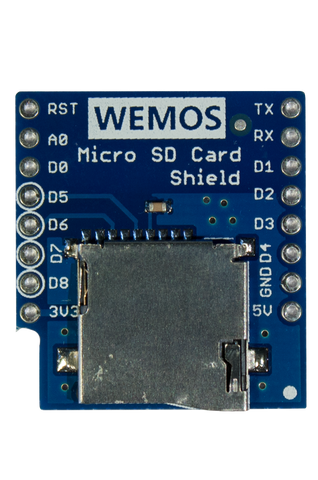 Micro SD Card Shield for WeMos D1 Mini
