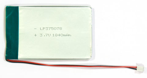 3.7V 1840mAh Lithium Ion Polymer Battery