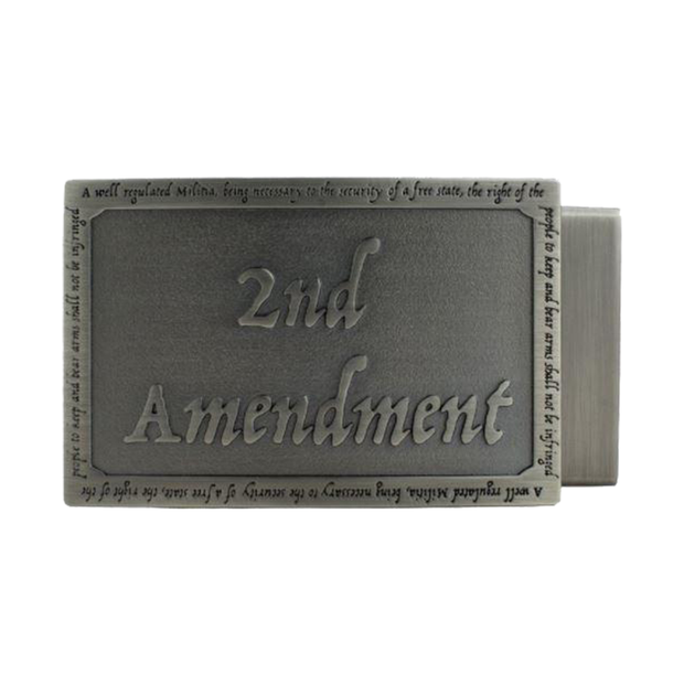 OVERSTOCK - 2nd Amendment Buckle w/ Leather Belt