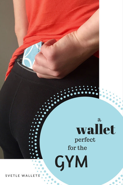 Perfect fit for the gym; tiny & waterproof wallet.