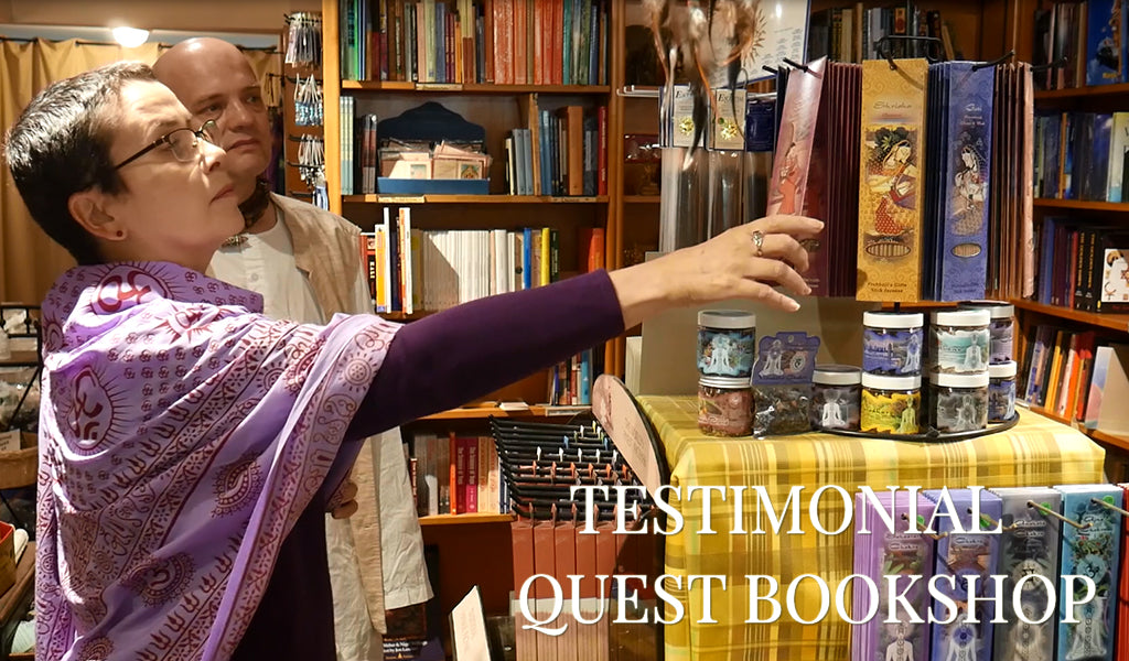 Testimonial by Quest Bookshop, NYC