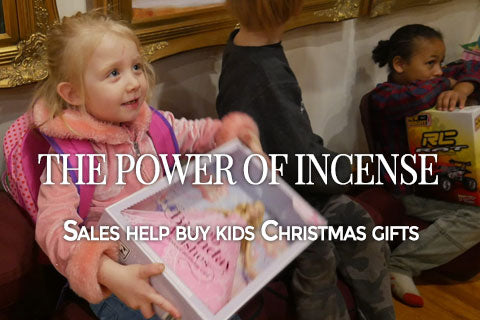 The power of incense - Sales help buy kids Christmas gifts