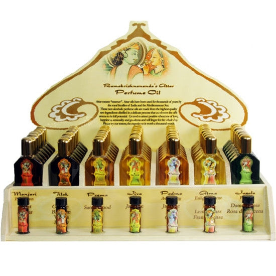 Display Rack - Perfume Attar Oils - 49 Bottles