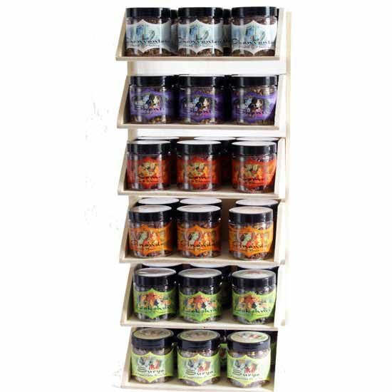 Display Rack - Herbal Resin Incense - Intention Line - 36 Jars 2.4oz