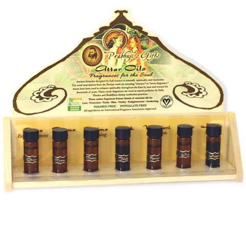 Display Rack - Perfume Attar Oils Testers and 21 Bottles