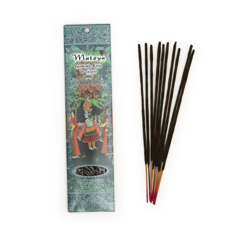 Incense Sticks Matsya - Jasmine, Rose, and Tulasi