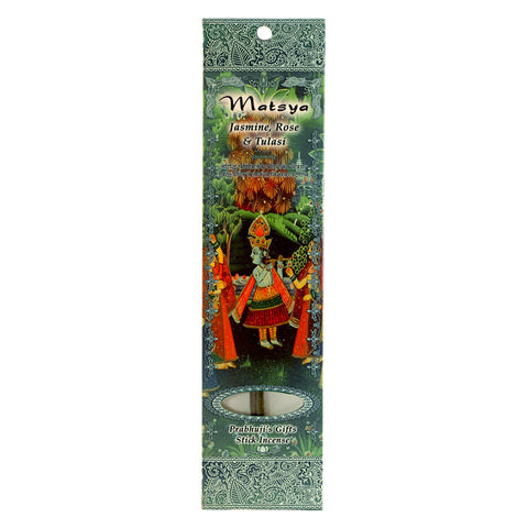 Sample Incense 2 Sticks - Matsya - Jasmine, Rose, and Tulasi