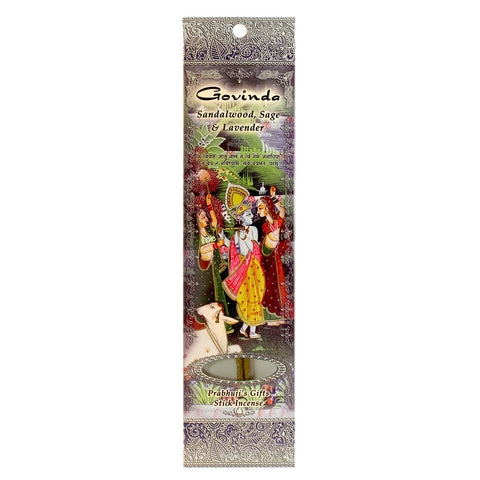 Sample Incense 2 Sticks - Govinda - Sandalwood, Sage, and Lavender