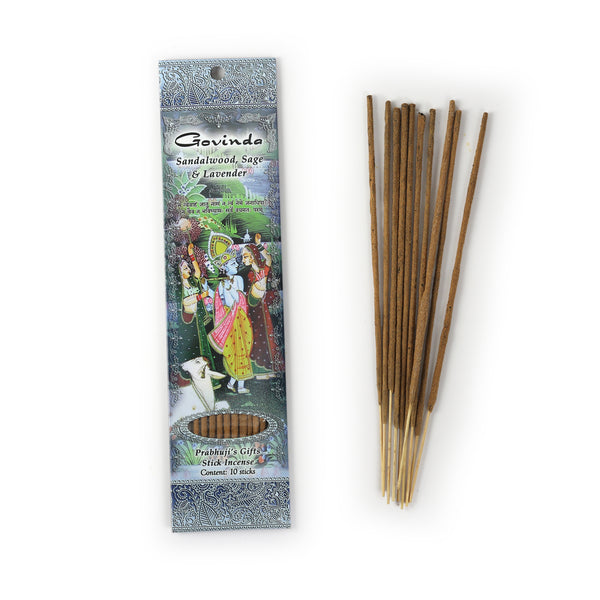 Incense Sticks Govinda - Sandalwood, Sage, and Lavender