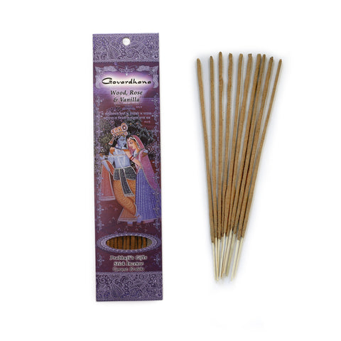 Incense Sticks Govardhana - Wood, Rose & Vanilla