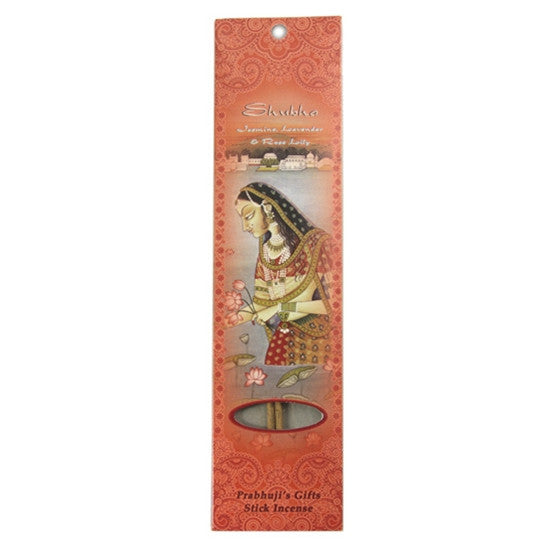 Sample Incense 2 Sticks - Shubha - Jasmine, Lavender, and Rose Lily