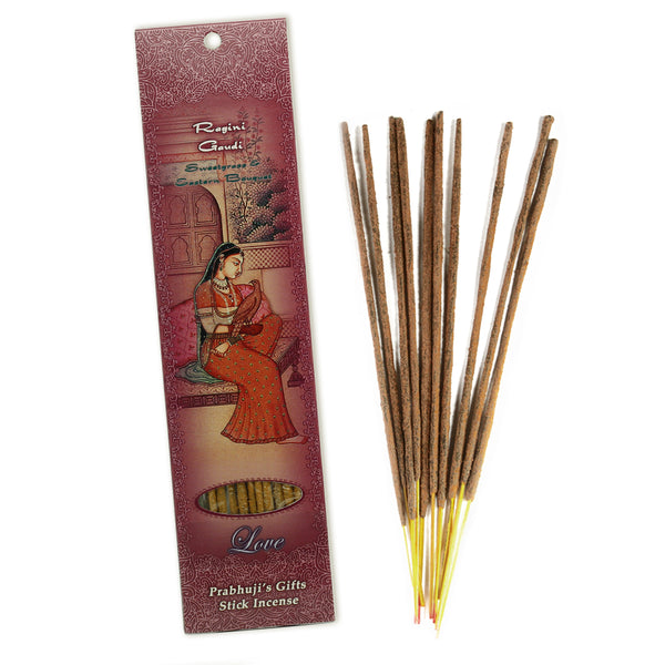 Incense Sticks Ragini Gaudi - Sweetgrass and Eastern Bouquet - Love