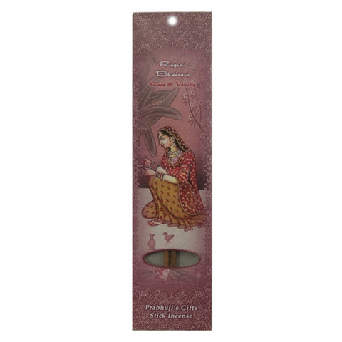 Sample Incense 2 Sticks - Ragini Bhairavi - Rose and Vanilla - Passion
