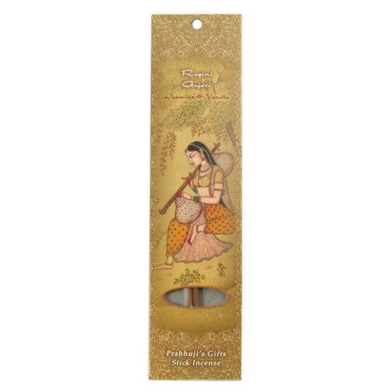 Sample Incense 2 Sticks - Ragini Gujari - Jasmine and Vanilla - Intimacy