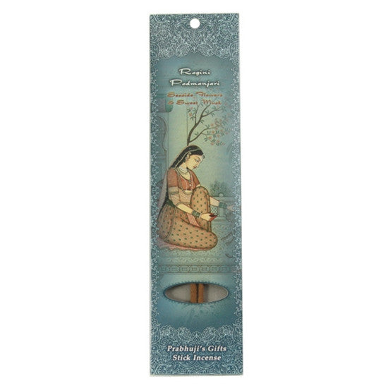 Sample Incense 2 Sticks - Ragini Padmanjari - Seaside Flowers and Sweet Musk - Relaxation