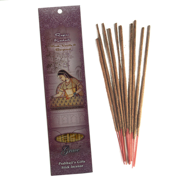 Incense Sticks Ragini Kachaili - Musk, Vanilla, and Bergamot - Grace