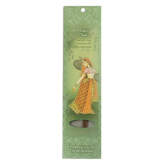 Sample Incense 2 Sticks - Ragini Todi - Tropical Fruit, Jasmine, and Sandalwood - Euphoria