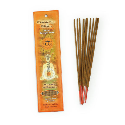 Incense Sticks Sacral Chakra Svadhishtana - Sensuality and Creativity