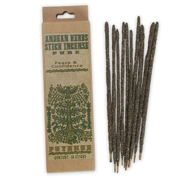 Smudging Incense - Pure - Andean Herbs Incense Sticks - Peace & Confidence
