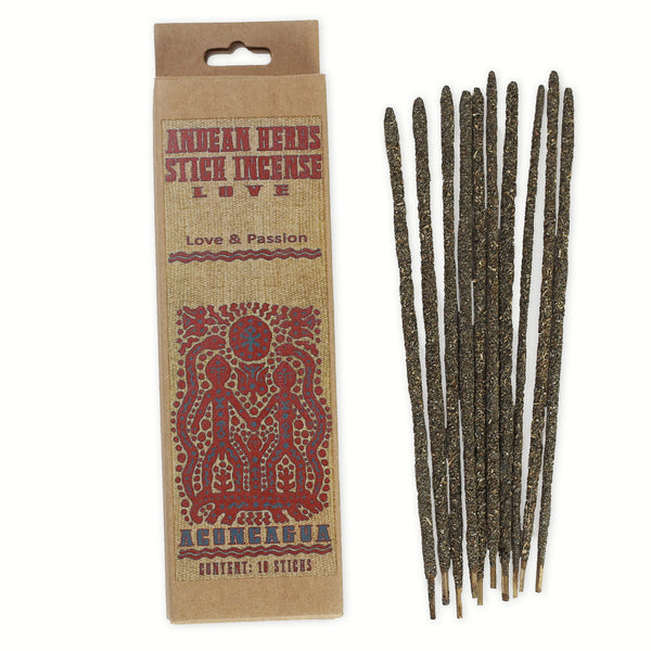 Smudging Incense - Love - Andean Herbs Incense Sticks - Love & Passion
