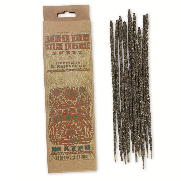 Smudging Incense - Sweet - Andean Herbs Incense Sticks - Harmony & Relaxation