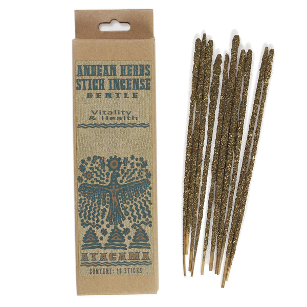 Smudging Incense - Gentle - Andean Herbs Incense Sticks - Vitality & Health