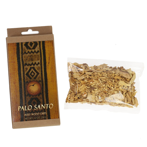 Palo Santo Raw Incense Wood - Chips - 1.2 oz (34 g)