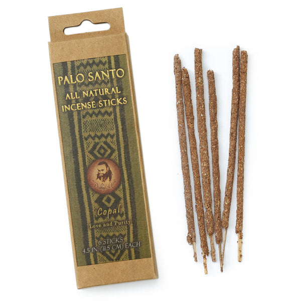 Palo Santo and Copal Incense Sticks - Love & Purity -  6 Incense Sticks