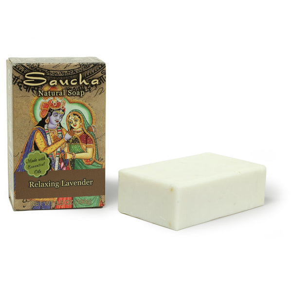 Soap Bar Saucha - Natural Relaxing Lavender - 3.5 oz (100g)
