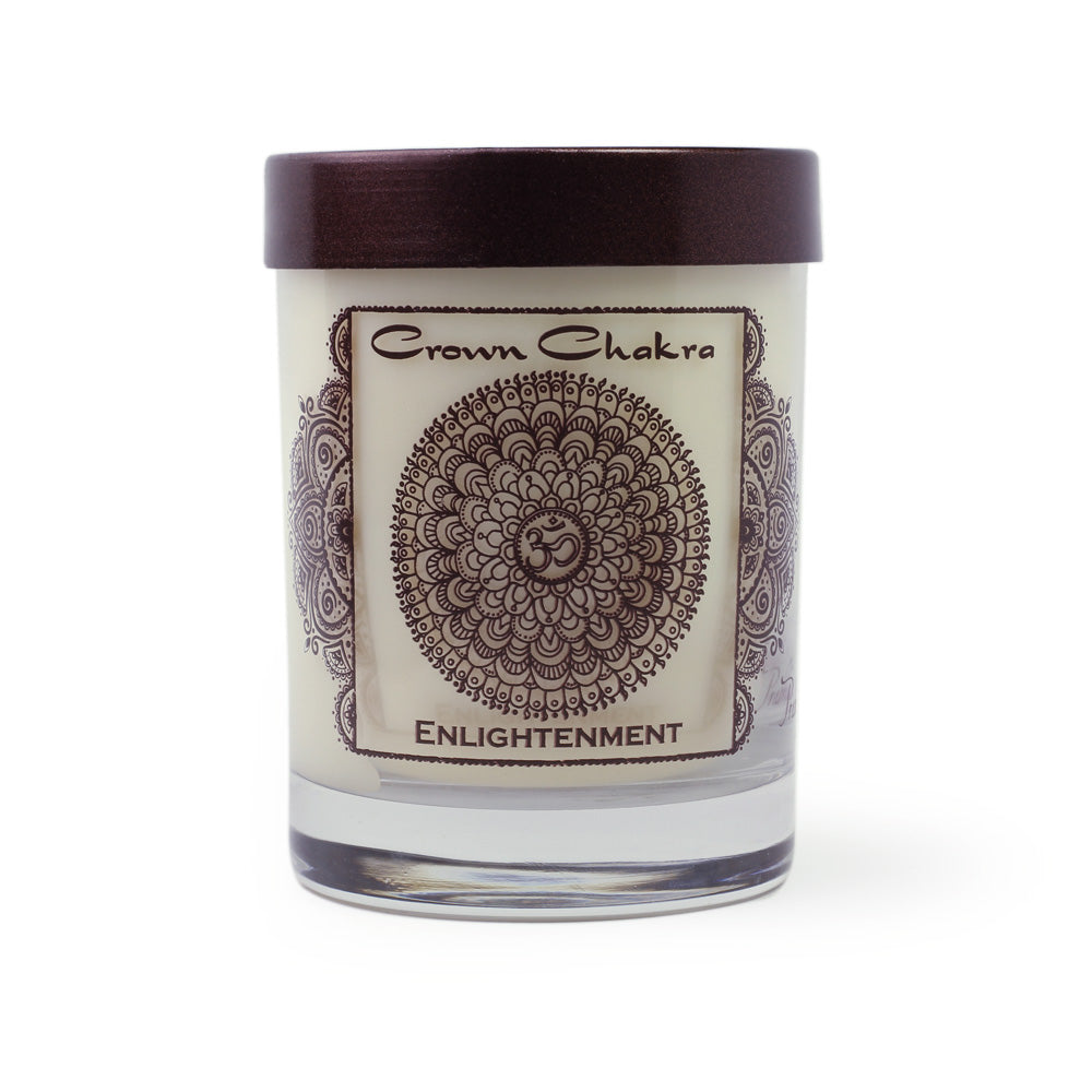 Scented Pure Soy Candle Crown Chakra Sahasrara Lotus Flower