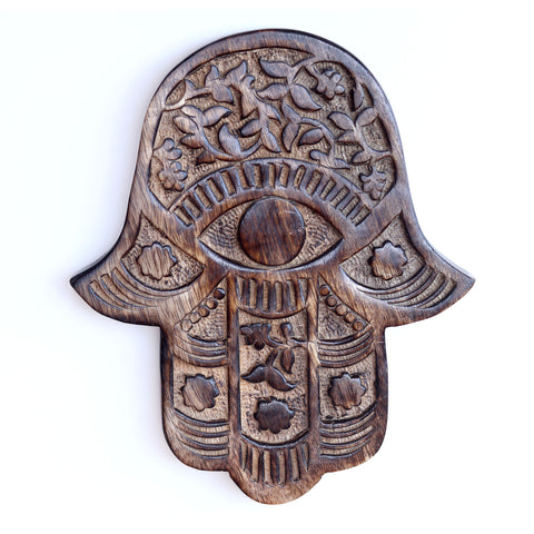 Decor - Wooden Hamsa - Vines and Flowers 7
